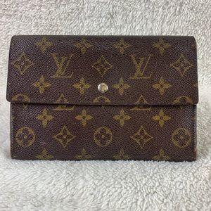Auth louis Vuitton Pochette Passport Long Wallet